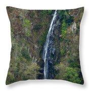 Waterfall In The Intag 2 Throw Pillow