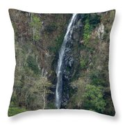 Waterfall In The Intag 3 Throw Pillow