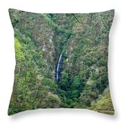 Waterfall In The Intag 4 Throw Pillow