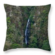 Waterfall In The Intag 5 Throw Pillow