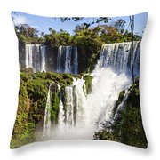 Waterfall In The Jungle Throw Pillow