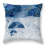 Waterfall In The Moon Throw Pillow