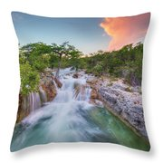 Waterfall In The Texas Hill Country 3 Throw Pillow