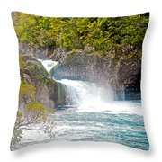 Waterfall In Vicente Perez Rosales National Park Near Puerto Montt-chile  Throw Pillow
