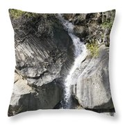 Waterfall Into The Feather River Throw Pillow