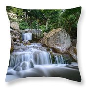 Waterfall Throw Pillow by Ivelin Donchev