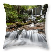 Waterfall Jocassee Gorges Upcountry South Carolina Throw Pillow