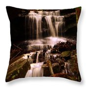 Waterfall Mcconnells Mills State Park Throw Pillow