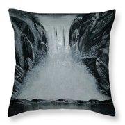 Waterfall Of Life Throw Pillow