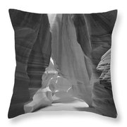 Waterfall Of Light - Black And White Throw Pillow