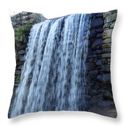 Waterfall Of The Grist Mill Throw Pillow
