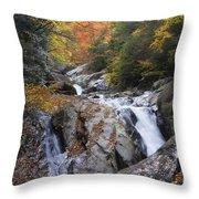 Waterfall Off Blue Ridge Parkway Throw Pillow