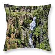 Waterfall On Lava Creek 1 Throw Pillow