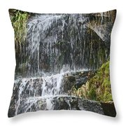 Waterfall On Mount Ranier Throw Pillow