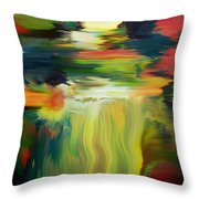 Waterfall On The Krka River Throw Pillow