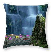 Waterfall02 Throw Pillow