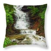 Waterfall#3 Throw Pillow