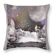 Waterfalls At Night Throw Pillow