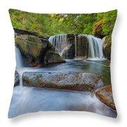 Waterfalls At Sweet Creek Falls Trail Throw Pillow