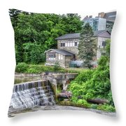 Waterfalls Cornell University Ithaca New York 04 Throw Pillow
