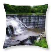 Waterfalls Cornell University Ithaca New York 05 Throw Pillow