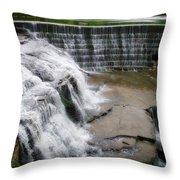 Waterfalls Cornell University Ithaca New York 06 Throw Pillow