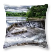 Waterfalls Cornell University Ithaca New York 07 Throw Pillow