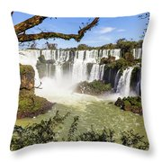 Waterfalls In Frame Throw Pillow