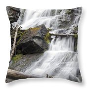 Waterfalls Of Lost Creek Throw Pillow