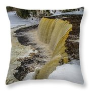 Waterfalls Upper Tahquamenon -6049 Pure Michigan Throw Pillow