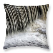 Waterflow Waterfall On A Small Creek Throw Pillow