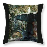 Waterfountain In Charleston Park Throw Pillow