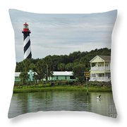Historic Waterfront Beauty Throw Pillow