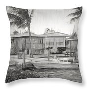 Waterfront Cottages At Parmer's Resort In Keys Throw Pillow
