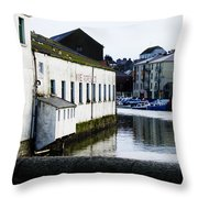 Waterfront Factory Throw Pillow