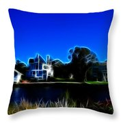 Waterfront Homes Mystic Seaport Throw Pillow