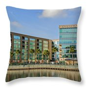 Waterfront Hotel Throw Pillow