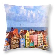 Waterfront Houses Throw Pillow