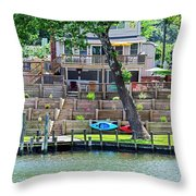 Waterfront Landscaping Throw Pillow
