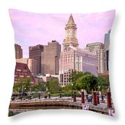 Waterfront Park Pink Throw Pillow by Susan Cole Kelly