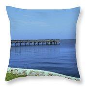 Waterfront Pier Throw Pillow
