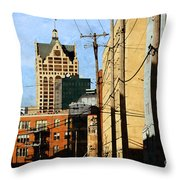 Waterfront Stop Throw Pillow
