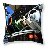 Watering Garden Throw Pillow