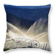 Watering The West Throw Pillow