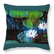 Waterlilies 19 Throw Pillow