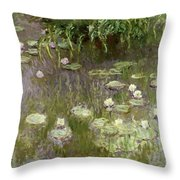 Waterlilies At Midday Throw Pillow