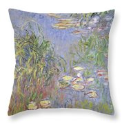 Waterlilies, Cluster Of Grass Throw Pillow