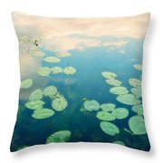 Waterlilies Home Throw Pillow by Priska Wettstein