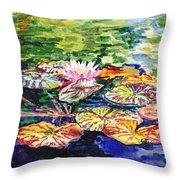 Waterlilies Impressionism Throw Pillow