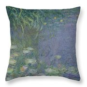 Waterlilies Morning Throw Pillow